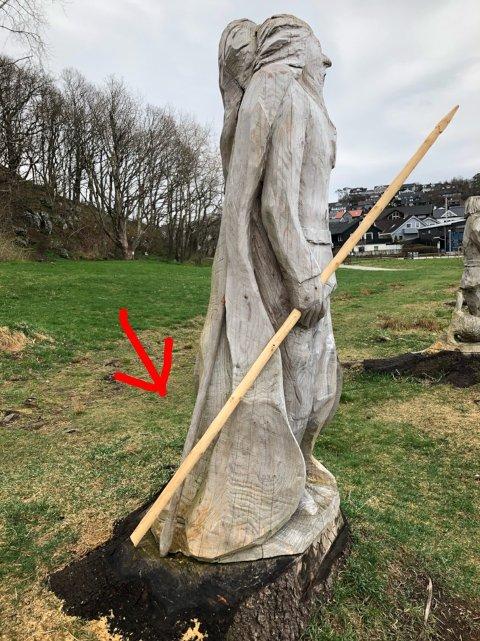 [b]TILBAKE:[/b] Spydet til den ene av de åtte tre-vikingene på Ormen Lange har funnet tilbake til sin eier etter at det ved en tilfeldighet ble funnet i en garasje.