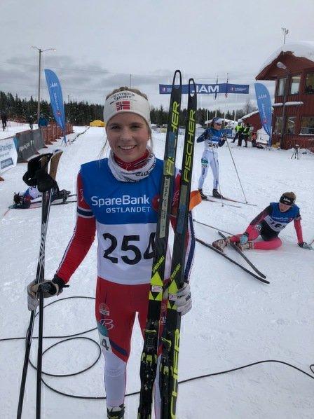 SEIEREN GLAPP: Gro Njølstad Randby kom på andreplass i Holmenkollen.