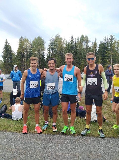 Fra venstre: Thomas Guste Pedersen, Magnus Hasseleid, Jørgen Hals og fartsholder Andreas Grøgaard.