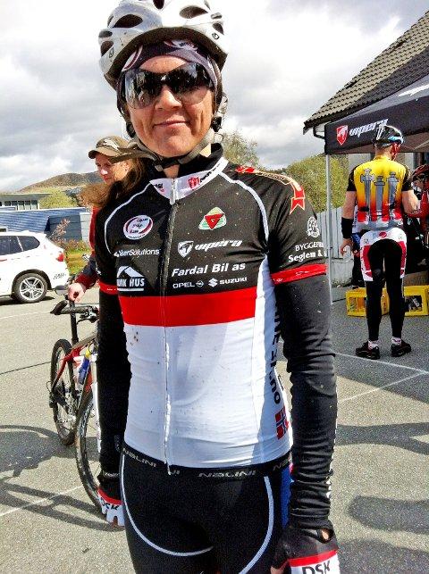 Hilde Hetland fra Dalane Sykleklubb fortsetter å imponere på sykkelsetet.