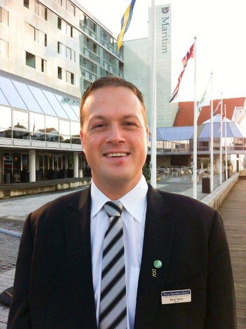 TRAVEL: Hotelldirektør Reidar Westre klarer å glede seg til jul, selv om han bokstavelig talt vasser i jul på Scandic Maritim allerede fra oktober av.