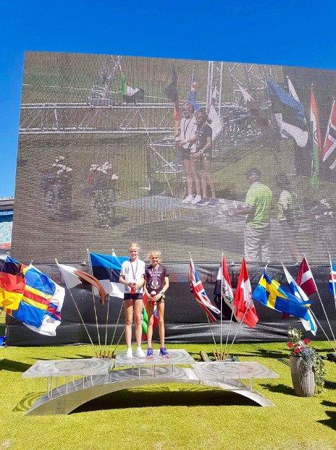 Malin Hoelsveen (t.h) og Sunniva Fjeld sørget for lokale storeslem på 600 meter i Gøteborg.