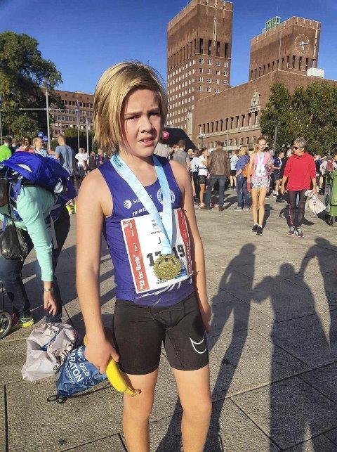 LOVENDE LØPER:Jens Samuelsen imponerte stort under Oslo Maraton.