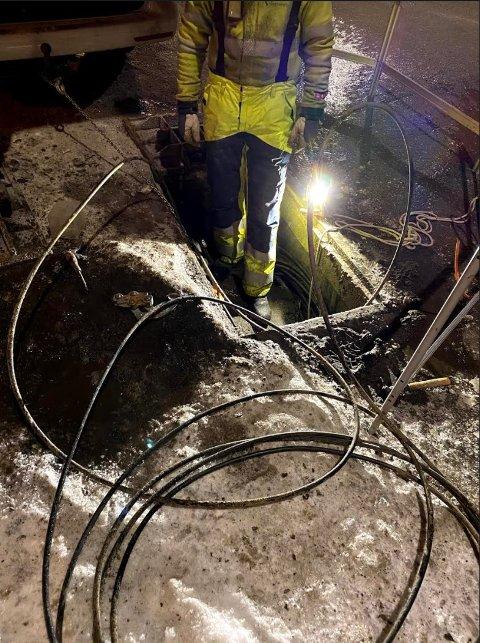 UHELL: – Det var ein ekstern aktør som jobba i ein kum der det ligg ein fiberkabel, fortel Ole Petter Hatlevoll i Sognenett.