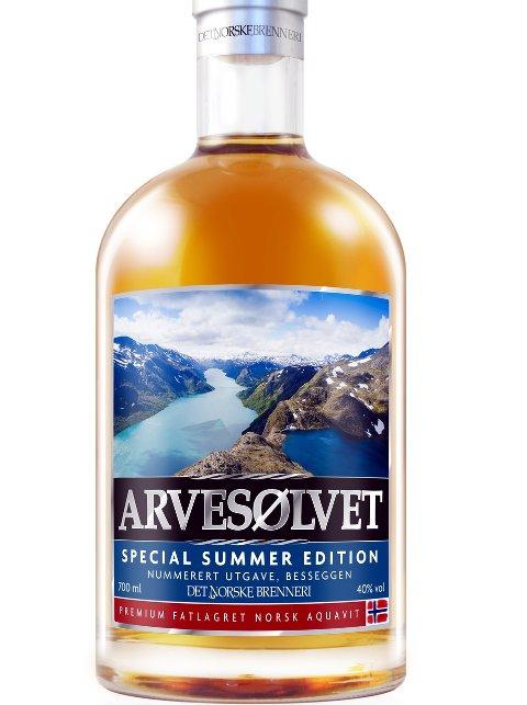 Besseggen-motiv: Besseggen blir i år hedret på Arvesølvet sin utgave av sommerakevitten.