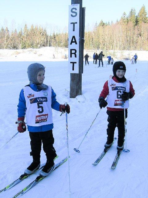Med startnummer 5 Olav Eid Sandås og 6 Even Eid Sandås.