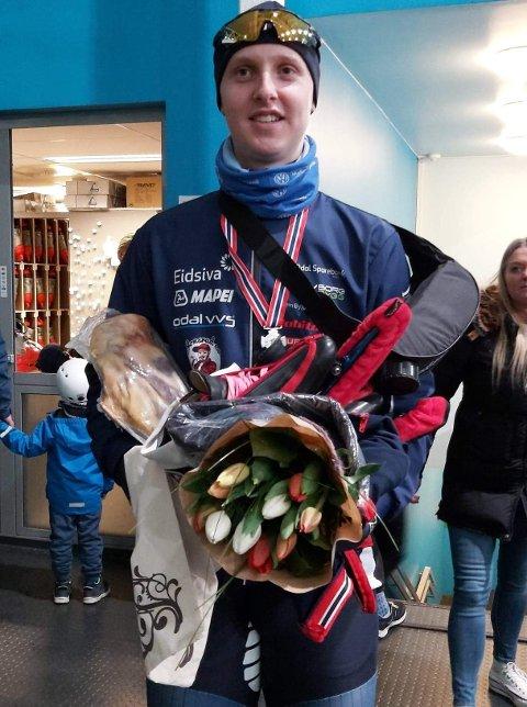 Sander Eitrem skøytet inn til NM-sølv i helga.