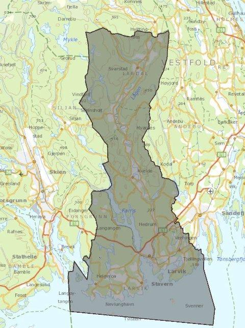 «Nye Larvik»: Fra 1. januar blir Larvik og Lardal kommuner slått sammen til en ny storkommune.