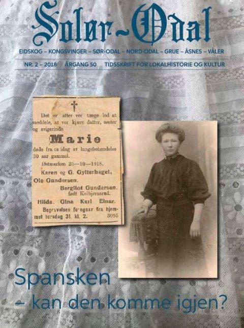 SPESIALNUMMER: Anno Kongsvinger museums spesialutgave av tidsskriftet Solør-Odal om spanskesyken er skremmende aktuelt.