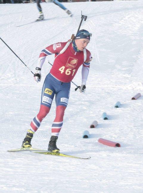 Ustabil: Fredrik Gjesbakk gikk raskere, men bommet for mye på standplass.