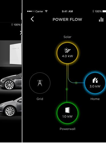 Kraftvegg: Tesla leverer Powerwall solcellesystemer som et godt alternativ til å kjøpe strøm.