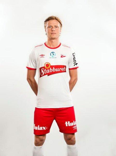 Andreas Aalbu i årets FFK-drakt