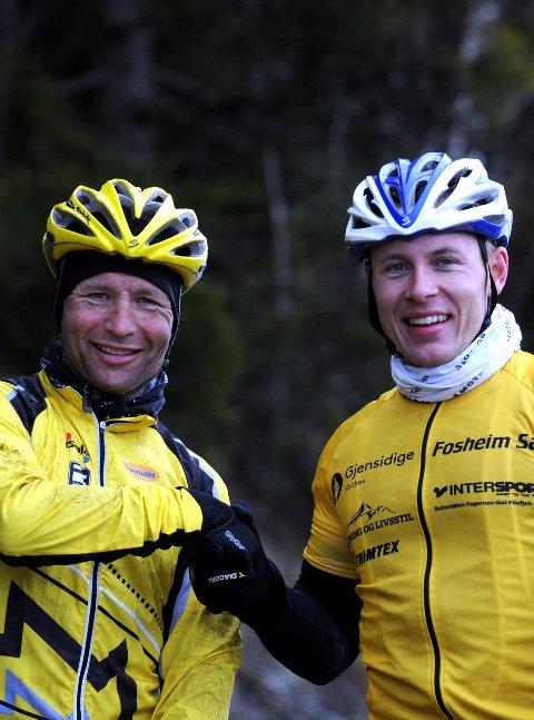 Vant: Eivind Fosheim (t.v.) og Eivind Botten klassevant over fjellet.
