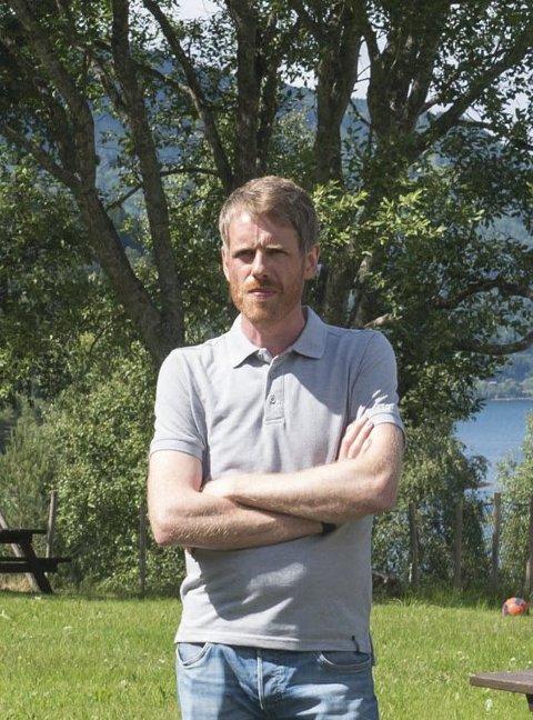 Hardangerpark, her ved Vidar Bergstø, seier dei vil driva arbeidstrening. Arkivfoto: Eli Lund
