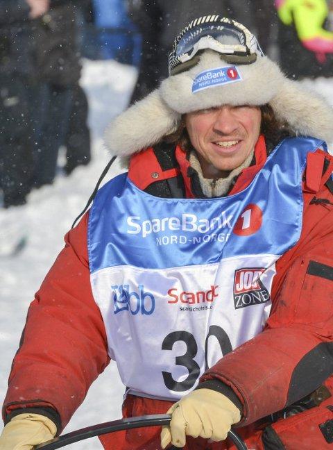 SKREV HISTORIE: Tyske Hendrik Stachnau gjorde noe ingen har klart før han i Finnmarksløpet.