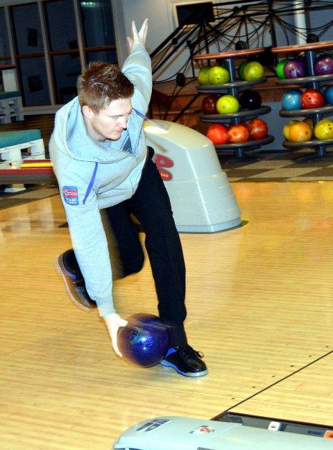 Heimesiger: Emil Hovrud gjekk til topps i Vårspretten i bowling.