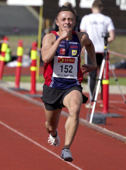 SKUFFET: Erik Tamawat Mikkeljord kom seg til finale på 100m, men han var skuffet over tida på 11.26. Foto: Rune Helle
