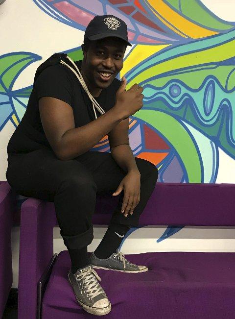 Spent: Marc Niyubahwe frå Odda skal delta i TV 2-satsinga «Singel» som har premiere på måndag.