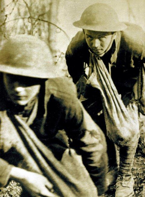 DØD: - Et menneskeslakteri, sier Olav Gunheim. Cirka 50.000 amerikanske soldater omkom i krigen. tilsvarende for Storbritannia er 900 000, Russland 1,8 millioner, Frankrike 1,4 mill og Tyskland 2 mill og Østerrike-Ungarn 1 mill. Her amerikanske soldater. (foto wikipedia common)