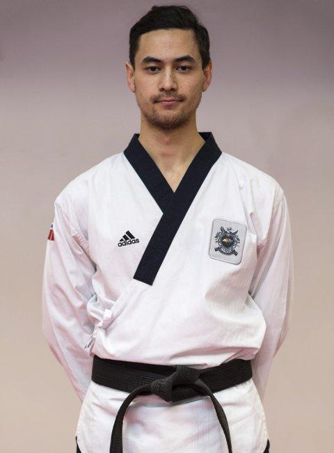 VANT IGJEN: Joachim Wien har etablert seg som en av Europas aller beste innen Taekwondo-mønster. Pressefoto