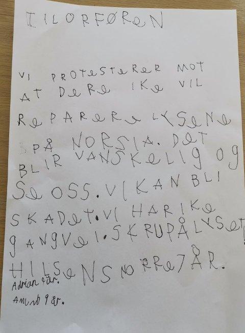 Brev fra Snorre 7år