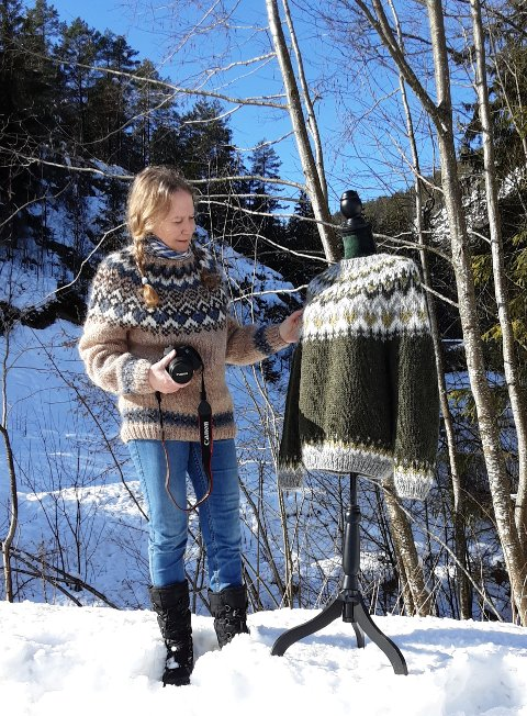 Folk over hele verden blir inspirert av Marit Gåsland sine hjemmestrikkede gensere