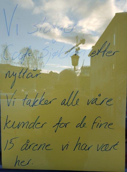 Café Sjøblom på Ringerike Stormarked er nedlagt.