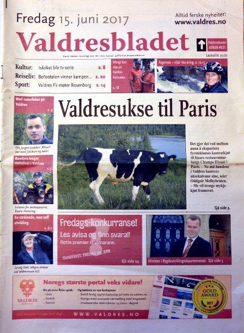 Store tanker om Valdres: Dette var forsiden i Valdresbladet fra 2007. Avisen var hadde spådommer om hvordan Valdres ville se ut ti år frem i tid. Med fasiten i hånden, kan vi trekke konklusjoner ut av spådommene.