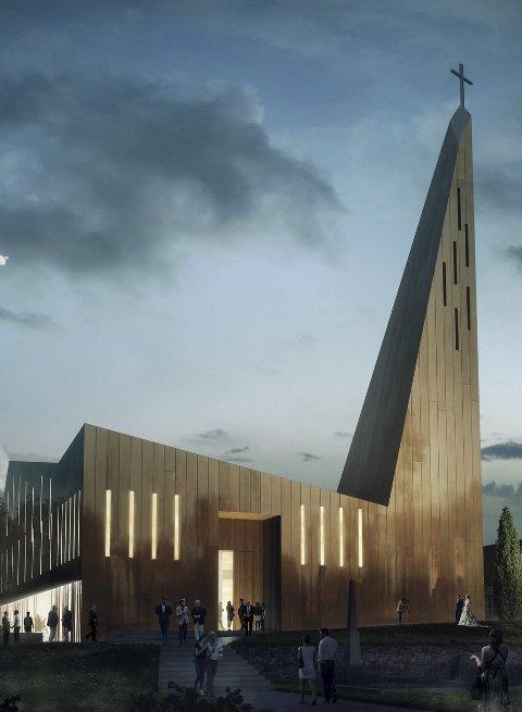 Også dette forslaget har tatt menighetens ønske om høyt tårn på alvor.