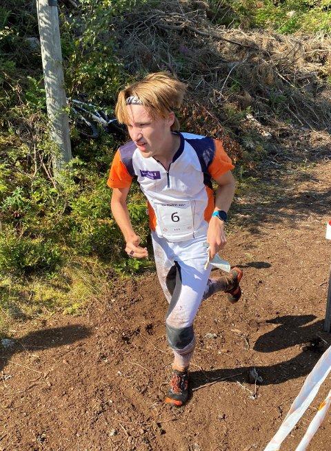 Martin Nøkleby Melling i innløpet på KM der han vant gullet i H17-18.