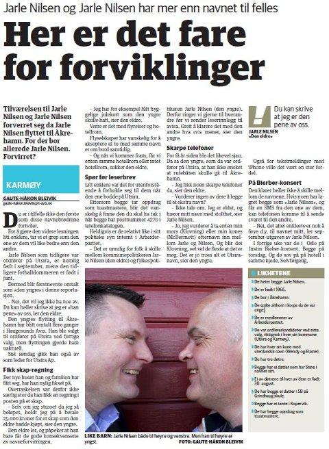 Faksimile fra Haugesunds Avis 24. april 2013.