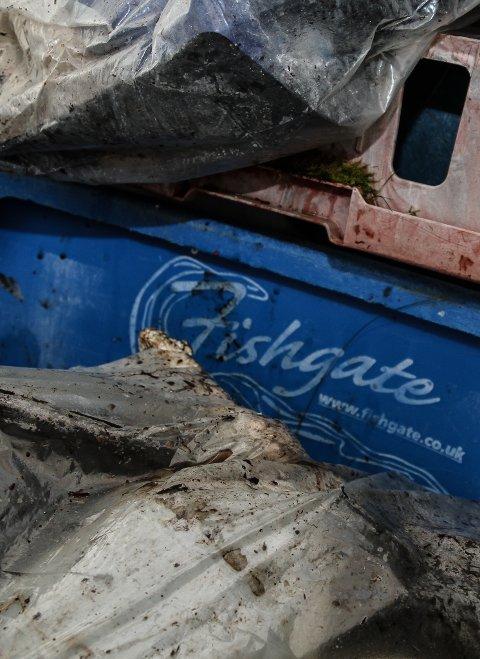 LANGREIST: Omtrent 70 prosent av plastbosset ein finn her i ytre strok, kjem langvegs frå. Resten er lokalt. Reiser ein lenger inn i fjordarmane, er det omvendt.