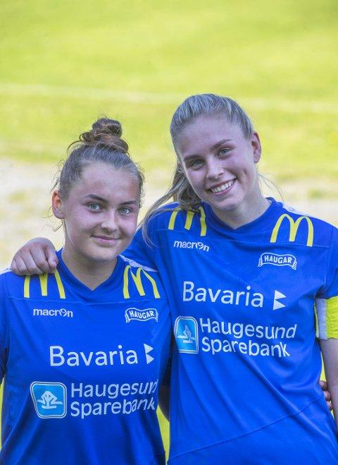 MÅLSCORERNE: Silje Støle (t.v.) og Ingvild Hansen Høvring. FOTO: GRETHE NYGAARD