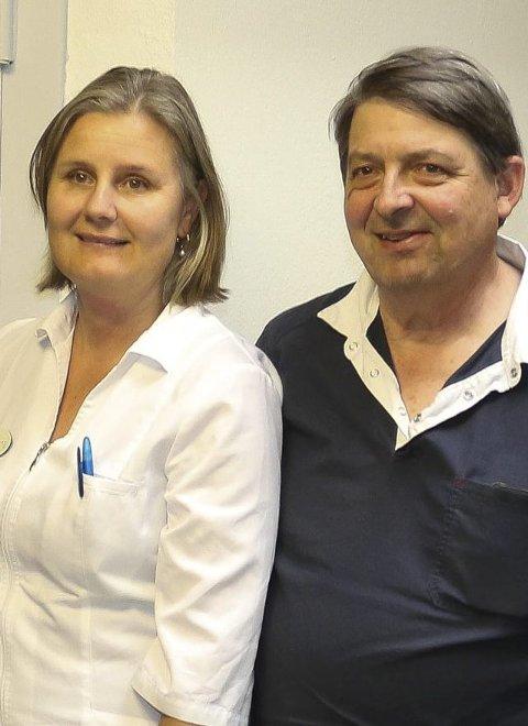 LEGEREKRUTTERING: Martin Chapman leder rekrutteringsprosjektet.  Legesenterleder Laila Herlyng ønsker ikke lenger å være privatpraktiskerende, men fast ansatt i Åsnes kommune.