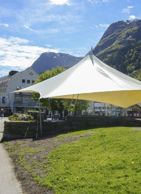 Almerkeparken: Lørdag blir det uterestaurant her. Arkivfoto: Ernst Olsen