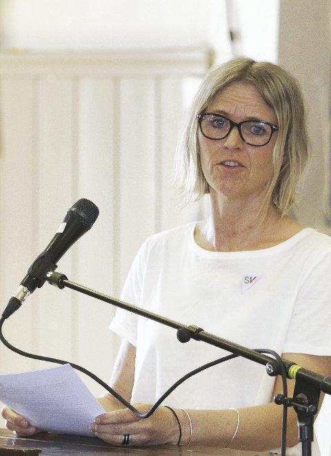 Appell: Lokal SV-leder Ayna Alme. Foto: Pål Nordby
