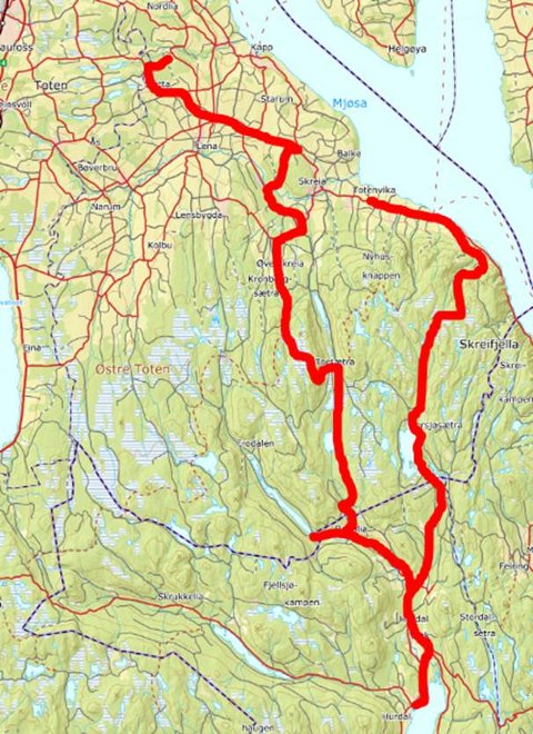 Det var litt av en rundtur deltakerne tilbakela i løpet av tre dager: 100 kilometer i alt.