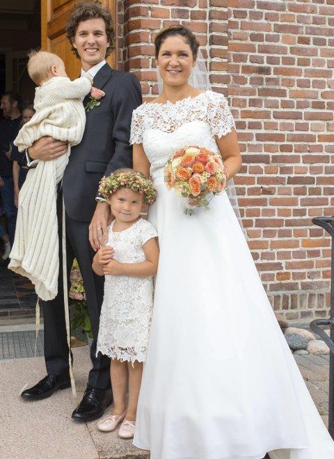 Nygifte: Vi giftet oss i Svelvik kirke 29.7.2017.