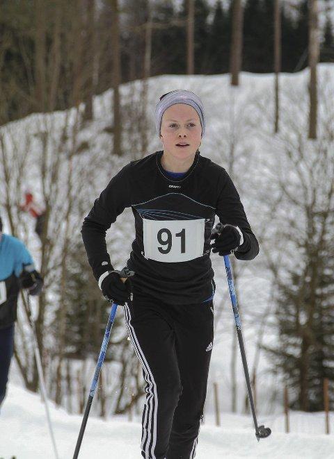 FULL FART: Margit Amalie Jøsendal (15) har som mål å verta like god som Johaug.