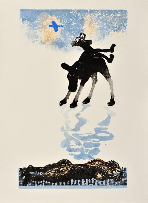 KUNSTEN OG LIVET: Glasslåven kunstsenter på Granavollen inviterer til salgsutstilling med tresnitt og treskulpturer av Ståle Blæsterdalen. Utstillingen åpner lørdag.