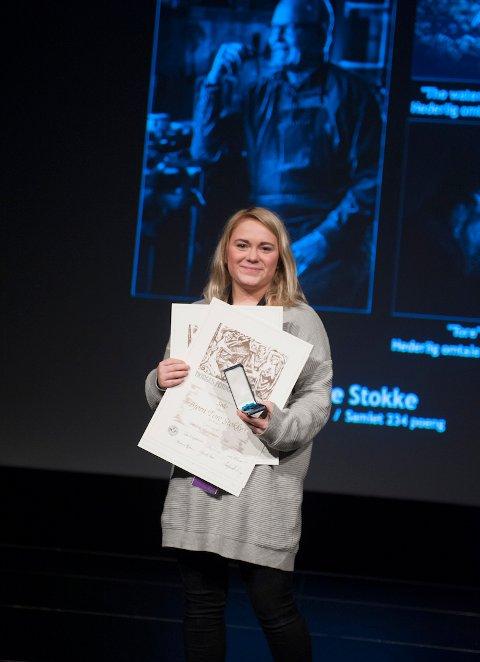 """SØLV: Bjørn Tore Stokke fikk sølvmedalje for bildet """"Lars Jacob"""". Hans kollega, Islin Hermansen, tok imot prisen både til Stokke og hederelig omtale til seg sjøl."""
