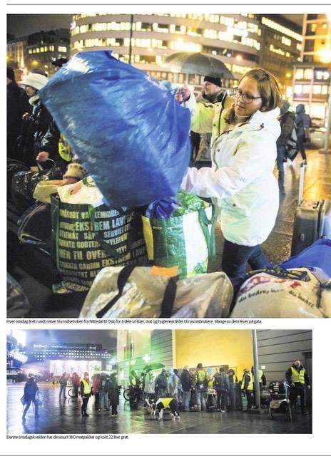 Siw Indsetviken er leder i nødhjelp-organisasjonen «Hjelp oss å hjelpe Akershus og Oslo» og «Gateteam» Oslo, der de hjelper folk som sliter på gata i Oslo.
