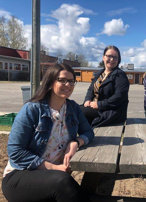 SKOLE: Miriam Bekkesletten og Linda Vasaaen leder FAU ved Jara skole og Jara barnehage. De har kjempet hardt for å bli hørt i prosessen. – Jeg er lei meg for at det stadig fokuseres på å løfte kvaliteten. Her har de gode resultater, og det er mye som ikke kan måles. Det handler om hele mennesket, sier Miriam.