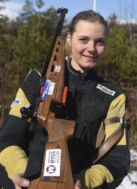 LYKKELIG: Jondalsjenta Katrine Aannestad Lund er klar for EM i skyting i Baku etter imponerende innsats i det siste uttaksstevnet.foto:  ole john Hostvedt