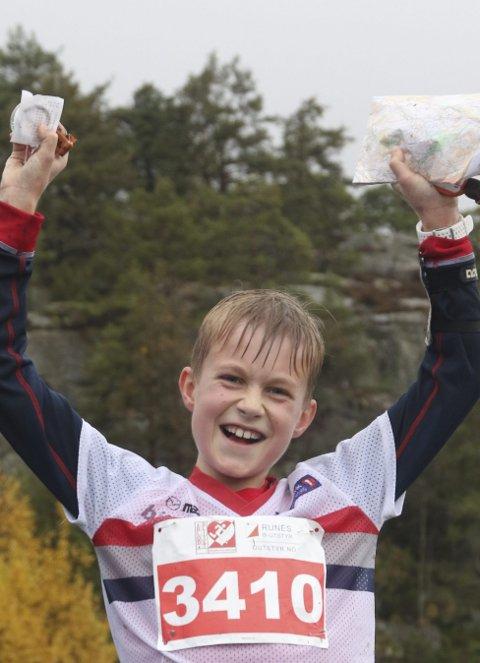 VANT: VINNER: Simen Sommerstad Røste kom først av alle i sin klasse på Blodslitet. FOTO: ERIK BORG