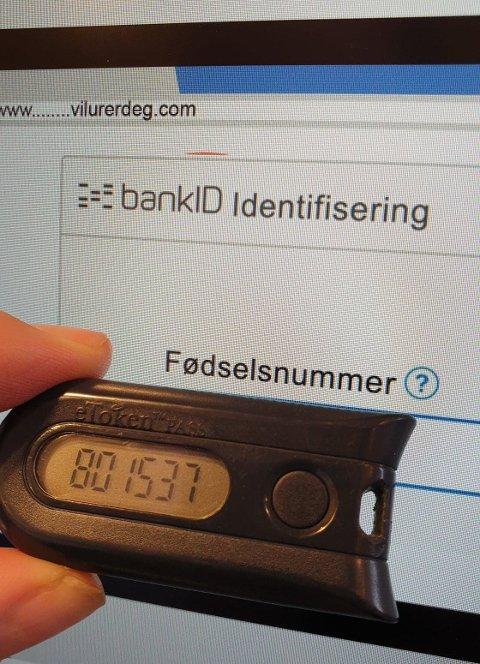 BANKID: Svindlarane prøver å få deg til å bruke BankID på fiktive sider.