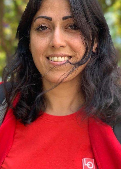 Fauzia Hussain-Wiik, leder i LO i Bergen og Omland.