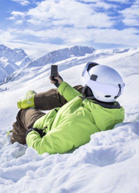 Klar: Alle mobiler på markedet i dag skal tåle real norsk vinter.