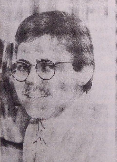 1991: Slik så konstituert redaktør Øyvind Lien ut da han begynte i fast stilling i Ringerikes Blad for 28 år siden.