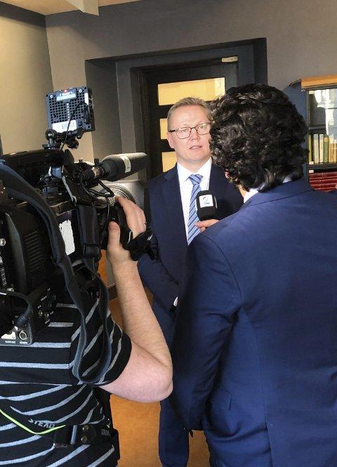 Fronter PST: En del av arbeidet handler om å informere gjennom mediene.